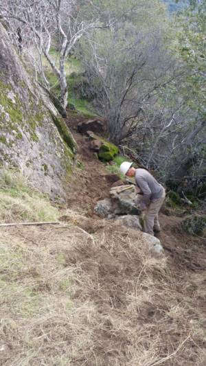 Rock Wall Below Cliff 1