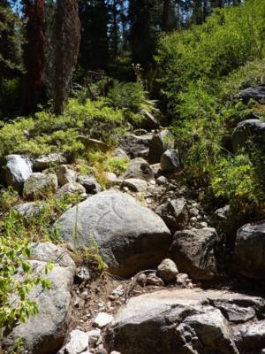 Trail Heavely Eroded