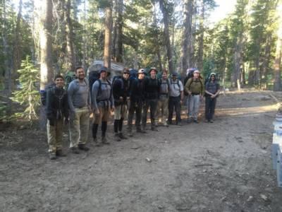 A Crew Shot Hiking In