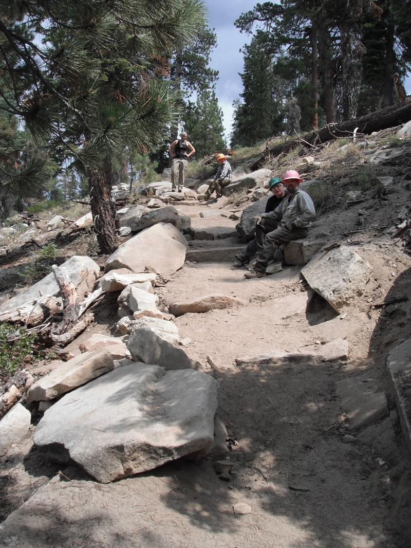 Big Meadow Stairs With Crew