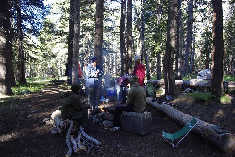Morning Camp Scene