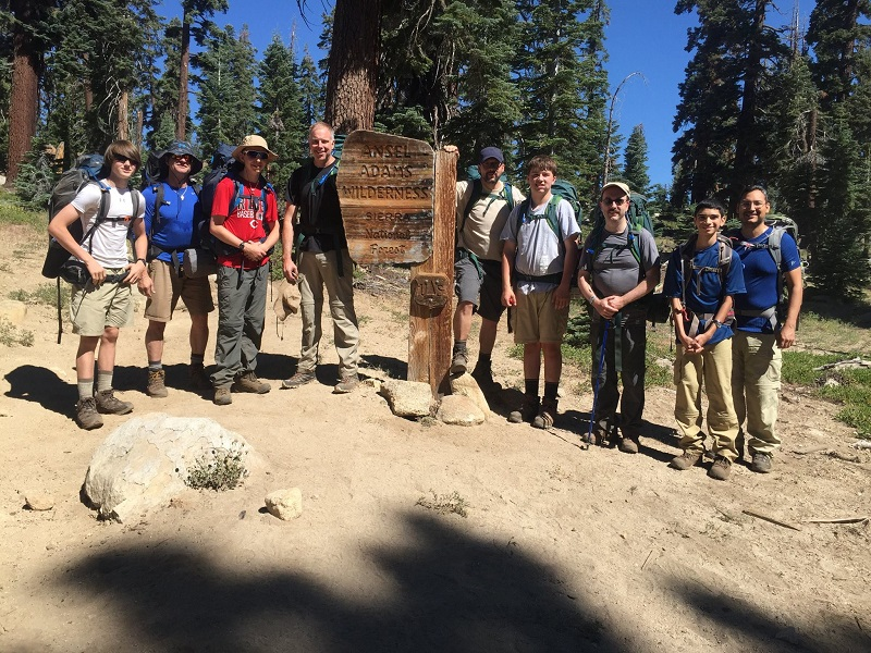 A Crew On The Hike In 2