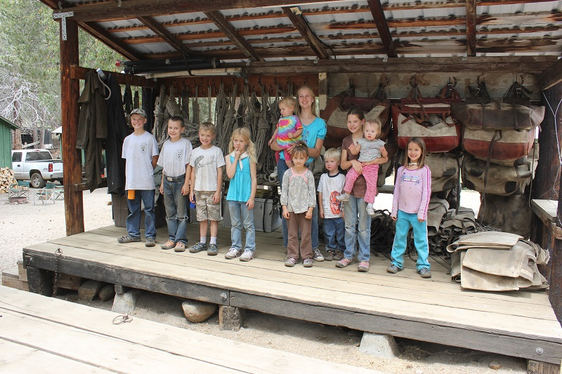 Edison Kids At Horse Loading