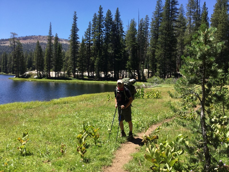 Hiking Into Camp