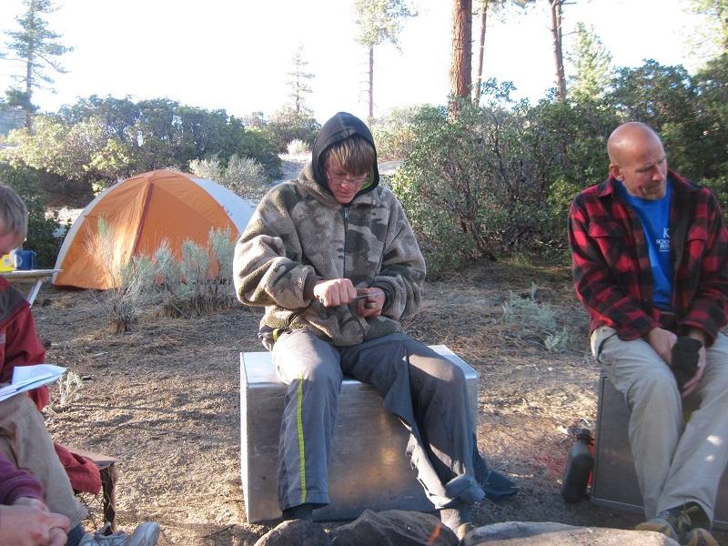 Sitting Around Camp