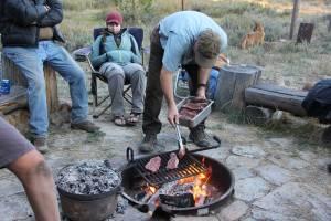 Cooking Steak Over Fire Monachi