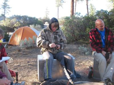 Sitting Around Camp